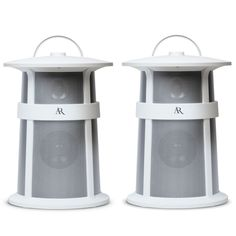 Acoustic Research Lighthouse Outdoor Wireless Speaker, set of 2 (White). Versatile Power Combinations - AC Adapter or Batteries. Weatherproof with Rubber Housing. Connects to Bluetooth - Stream and Control Music. Compatible with Apple and Android Products. High Performance Sound Quality.