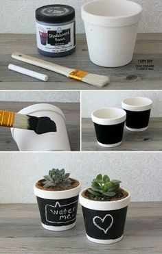 Make your own petite pot with polystyrene cups