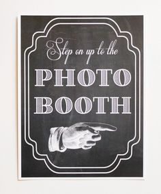 Printed Photo Booth Sign. Photo Booth Prop. by LittleRetreats