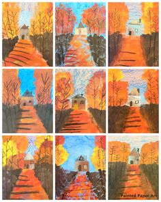 Art Lessons / Art Projects for Kids Landscapes inspired by Vincent Van Gogh