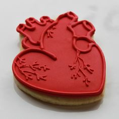 Anatomical Hearts Valentine Gift Box - 4 Heart Cookies by whippedbakeshop
