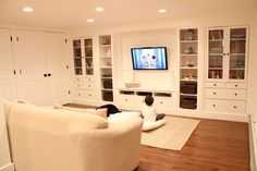Basement Renovation - traditional - basement - boston - Christina Katos