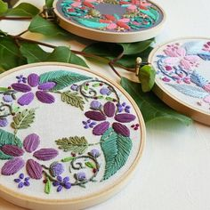 Digital Hand Embroidery Pattern: Floral Wreath  Digital