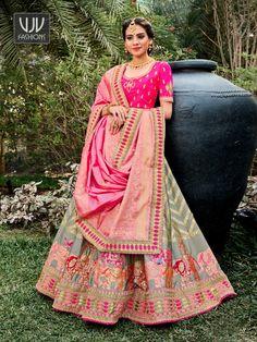 Rs10,000.00 Raw Silk Lehenga, Banarasi Lehenga, Lehenga Skirt, Pink Lehenga, Silk Dupatta, Lehenga Blouse, Saree, Lehenga Choli Wedding, Party Wear Lehenga