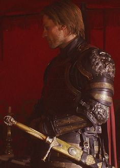 Hair as gold as his sword