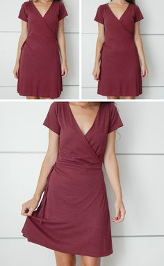diy-vestido-cruzado Más - Best Of Daily Sharing Sewing Dress, Diy Dress, Dress Outfits, Casual Dresses, Dress Skirt, Diy Vestido, Diy Fashion, Fashion Outfits, Club Outfits For Women