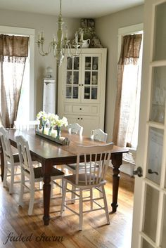 dining room...From My Front Porch To Yours: How I Found My Style Sundays- Faded Charm