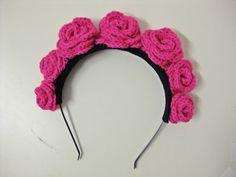 Crochet Rose Flower Crown #inspiration
