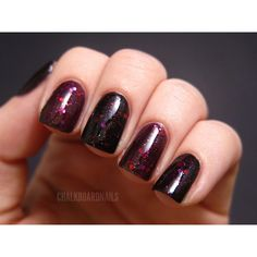 Chalkboard Nails: galaxy ❤ liked on Polyvore