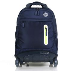 NEW Wheelpak Rolling Wheeled Backpack Travel Bag Kids School Bookbag Basic_Navy / EBAY ID, STORE - iamtov