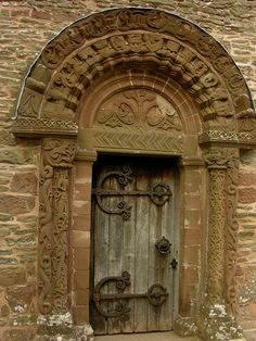 The door. Celtic-influenced Romanesque carvings on the doorway to Kilpeck Church, Herefordshire.this would make a great etching