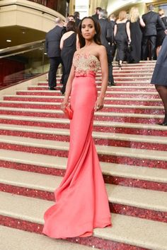 Red Carpet Moments at The Oscars 2013 - Kerry Washington / Photo by George Pimentel