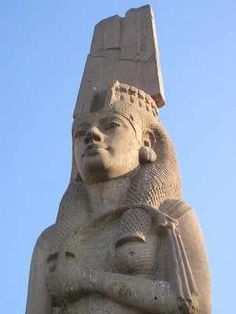 Meritamen, 33 foot colossal statue in Akhmim, Egypt. Meritamen (Meritamun, Merytamen: Beloved of Amun) was a daughter of pharaoh Ramesses II and his favourite wife Nefertari.