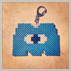 Monsters Inc logo perler bead keychain by tenichi