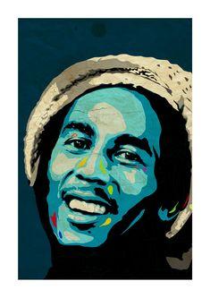 Bob Marley Art Print A3 Portrait by CiaranMonaghan on Etsy