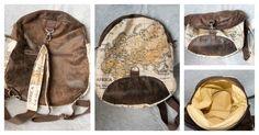 Sac à dos transformable Limbo cousu par Christine - Simili vieilli et tissu mappemonde - Patron couture Sacôtin