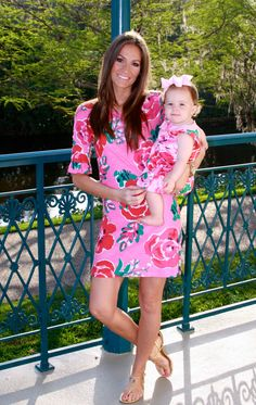 Mother & Daughter in matching Lilly!
