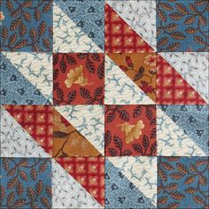 Civil War Quilts - Hovering Hawks  by Becky Brown