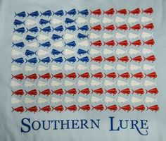 Our adorable American flag high tide long sleeved tee! Get it for just $34 right here: https://www.southernlure.com/collections/ladies-long-sleeve-tees/products/american-flag-with-sl-logo-high-tide-sky-blue-long-sleeve-tee