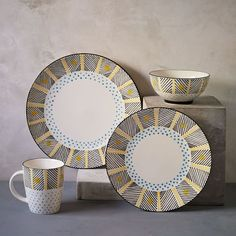 Potter's Workshop Dinnerware Set - Yellow Dots
