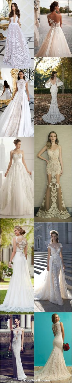 2016 lace wedding dresses / http://www.deerpearlflowers.com/lace-wedding-dresses-and-gowns/