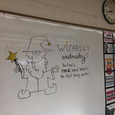 Bibbidy bobbidy boop! ✨#miss5thswhiteboard #teachersofinstagram #teachersfollowteachers #grade7blondesquad