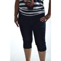Dámske elastické nohavice trojštvrťové - Capri Pants, Fashion, Moda, Capri Trousers, Fashion Styles, Fashion Illustrations