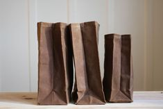 "DIY ""Brown"" Bag (waxed canvas lunch bag) - All"