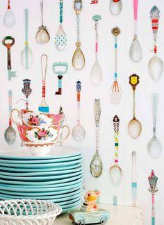 Cocinas decoradas con papel pintado