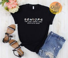 Seniors the one where they graduate shirt Friends themed graduation gifts for High school & College students Class of 2020. Cute Senior shirt if you're looking for a graduation gift for yourself, your children, your son or daughter or your sister. Check out my etsy store for more Friends tv show shirts.