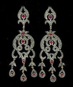 Ruby diamond chandelier earring diamond chandelier earrings ruby diamond chandelier earring diamond chandelier earrings chandelier earrings and diamond mozeypictures Images