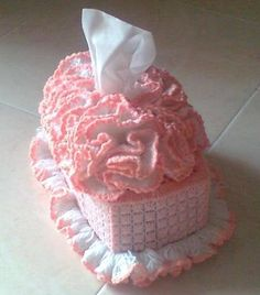 crochet kleenex | Crochet Tissue Box Cover