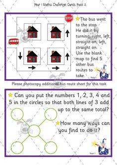 Teachers Pet Activities & Games » Year 1 Maths Challenge Cards (pack 2) » EYFS, KS1, KS2 classroom activity and game resources » A Sparklebox alternative