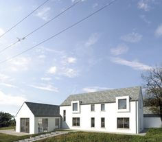 Monkstown | Louise Sliney Architects Monkstown | Louise Sliney Architects New build house in Monkstown, Cork. Zinc roof, cottage form, open plan living, harbour view. #newhouse #Irish #architecture Cottage Floor Plans, Cottage Plan, New Home Designs, Home Design Plans, Build House, Building A House, Building Ideas, Architecture Ireland, House Architecture