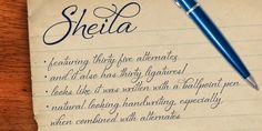 Sheila - Webfont & Desktop font « MyFonts