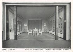 Unknown architect - Raum der Verlagsanstalt Alexander Koch GmbH, Pressa, Köln (Room of the Alexander Koch Publishing Company, Pressa Exhibition, Cologne), 1928