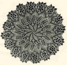 Салфетка 10.  Э.Критеску 'Художественное вязание спицами'