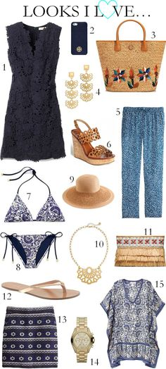 What do you like to wear on holidays? Summer holiday outfits, resort fashion style. Swimwear and kaftans. Beautiful beaches, sun and sand