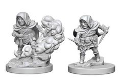 D&D Nolzur's Marvelous Unpainted Miniatures: Halfling Male Rogue Dungeons And Dragons, Rogues, Female Characters, Board Games, Lion Sculpture, Miniatures, Hand Painted, Fantasy, Statue