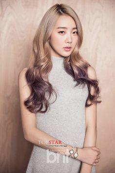 violet tips on cool blonde base DalShabet SuBin
