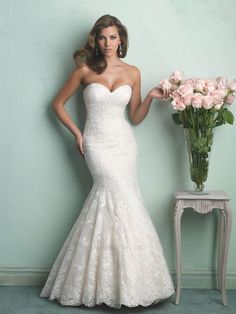 Sweetheart Neckline Lace Mermaid Wedding Dress Under 500 with Buttons Down Back