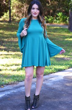 Click to shop - free shipping over $50!  Pretty Sweet Dress - Emerald – Worn & Raised