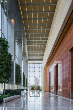 banking lobby Gallery of Al Hilal Bank Office Tower / Goettsch Partners - 7 Office Entrance, Office Lobby, Lobby Design, Diy Interior, Interior Design, Modern Interior, Design Design, House Design, Banks Office