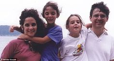 Family: The Garlands have two children, Rebecca (left) now 25 and Jessica (right) now 23. Both graduated from Yale.