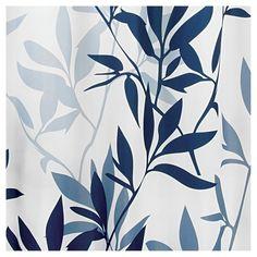 Shower Curtain Interdesign Leaf Navy (Blue) Slate