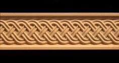 A wood carved frieze molding of celtic inspiration, woven patterns work in a range of settings and styles. Wood Carving Designs, Wood Carving Patterns, Celtic Patterns, Celtic Designs, Ceiling Decor, Ceiling Design, Diy Fireplace, Diy Mantel, Fireplaces