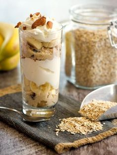 Healthy Sweets, Healthy Recipes, Healthy Food, Healthy Choices, Tiramisu, Oatmeal, Sandwiches, Brunch, Food And Drink