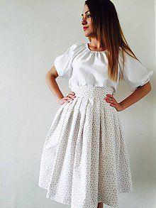Folklórny komplet / ivapetrovska - SAShE.sk - Handmade Šaty Waist Skirt, Lace Skirt, High Waisted Skirt, Short Sleeve Dresses, Dresses With Sleeves, Skirts, Fashion, Moda, Skirt