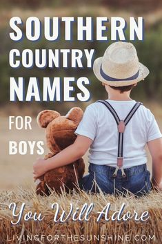 Are you looking for a sweet rustic name for your baby boy? This list of Southern boy names will help you find the perfect name for your new son. names vintage boys names vintage classic names vintage girl names vintage retro names vintage uncommon Country Baby Boy Names, Southern Boy Names, Cute Country Boys, Celtic Baby Boy Names, Sweet Baby Boy Names, Rustic Boy Names, Hindu Baby Girl Names, Romantic Girl Names, Boy Girl Names