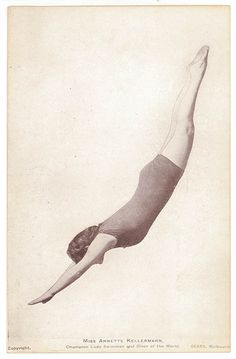 Miss Annette Kellermann, Champion Lady Swimmer and Diver of the World